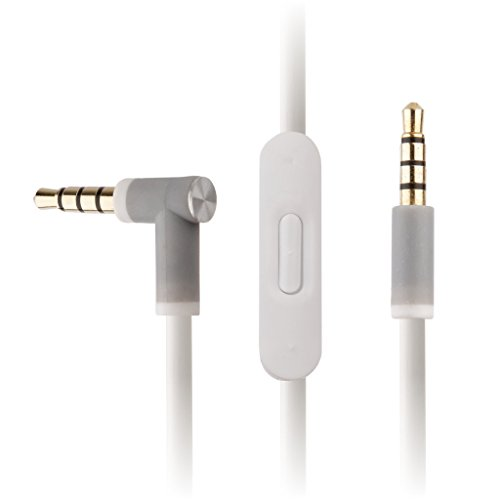 REYTID - Cable de audio blanco compatible con auriculares