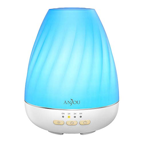 Essential Oil Diffuser Anjou Ultrasonic 200mL Aroma Diffuser with Mist...