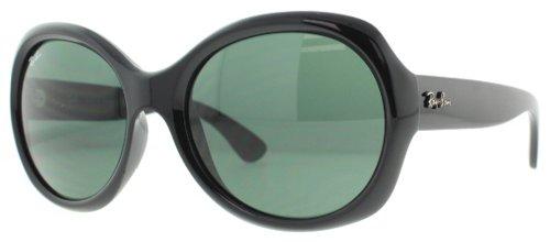 Ray-Ban Women's RB4191 Round Sunglasses, Black/Green, 57 mm