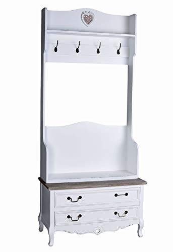 Garderobe Shabby Chic Standgarderobe Garderobenständer Schuhschrank hmb165 Palazzo Exklusiv
