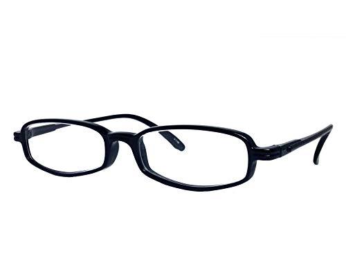 純日本製 やわらかシニアグラス 老眼鏡 SABAEシリーズ シャイン・ブラック 鯖江製メガネ JAPAN 度数:+0.75〜+3.50 ケース付 S75