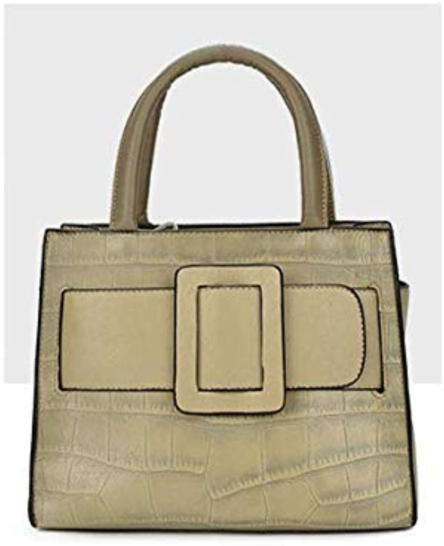 Bloomerang Luxury Handbags Women Bags Designer Fashion Ladies Genuine Leather Plaid Big Bag Tote Bags for Women Vintage Shoulder Bags color Khaki