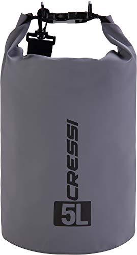 Cressi Dry Bag, Sacca/Zaino Impermeabile per attività Sportive Unisex Adulto, Grigio, 10 LT