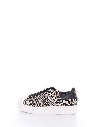 adidas Superstar Bold W, Sneaker Donna, Core Black/off White/Gold Metallic, 40 EU
