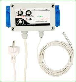 GSE Klima-Regler, Drehzahlregler für Temperatur und Unterdruck, 230 V, max. 2x 600 W