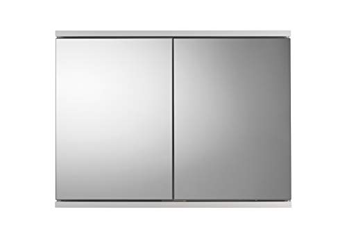 Croydex Simplicity spiegelkast met twee deuren, MDF, FSC-gecertificeerd, wit