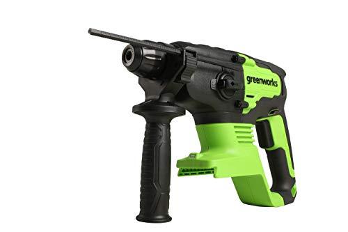 Greenworks Professional 2J Bohrhammer 24V Akku-Schlagbohrmaschine mit SDS-Plus, Sicherheitskupplung 4 Funktionen mit Vario-Lock und Rotationsstopp, 4550IPM und 1800RPM