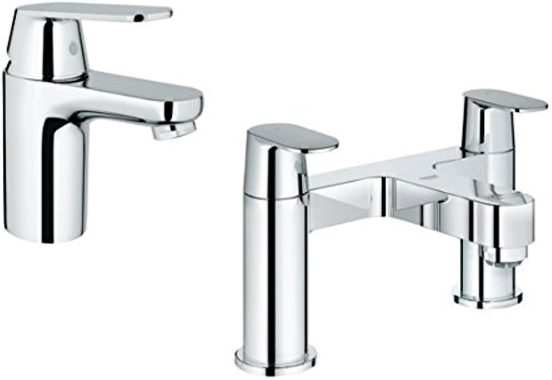 GROHE 117401 Eurosmart Cosmopolitan Smooth Body Basin Mixer and Bath Filler