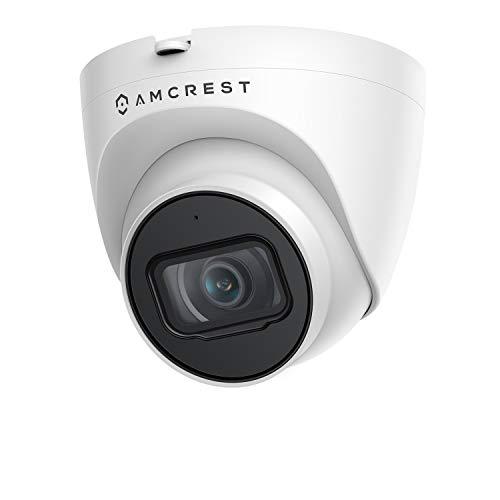 Amcrest 5MP UltraHD IP-Revolver-PoE-Kamera für den Außenbereich mit Mikrofon/Audio, 5MP, 98 Fuß NightVision, 2,8-mm-Objektiv, IP67 wetterfest, MicroSD-Aufzeichnung (256 GB), Weiß (IP5M-T1179EW-28MM)