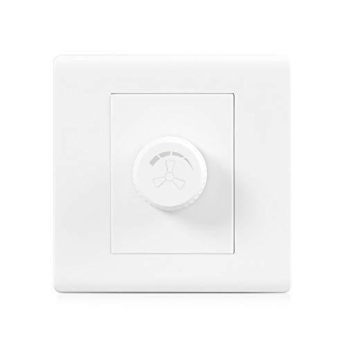 Ploutne Blanco 86 Tipo de interruptor de pared Ventilador de techo Interruptor nórdica de consumo simples e interruptor Commercial Hotel velocidad del ventilador a prueba de polvo y duradero PC perill