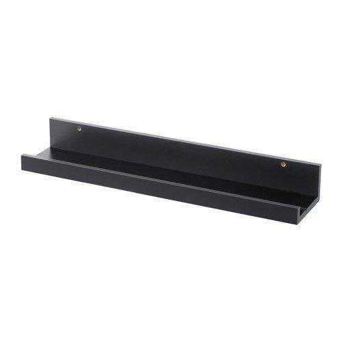 IKEA MOSSLANDA Bilderleiste in schwarz; (55cm)
