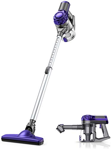 Cordless Vacuum Cleaner, APOSEN 18KPA Strong Suction Stick Vacuum, Ultra Lightweight Design, 4 in 1 Vacuum Cleaner for Home Hard Floor, Car, Pet Cleaning H10S