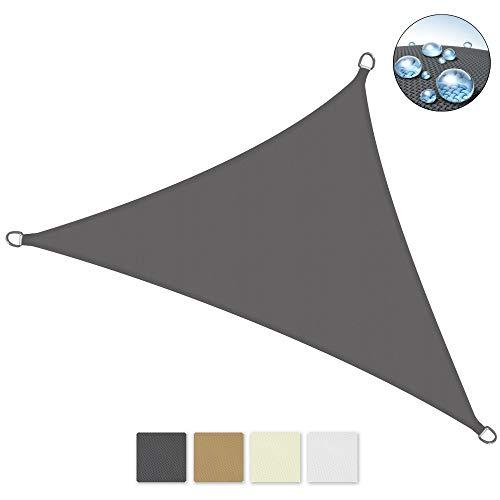 Sol Royal SolVision PS9 - Sonnensegel dreieckig 700x500x500 cm PES Wasserabweisend - Anthrazit - Sonnenschutz UV Schutz