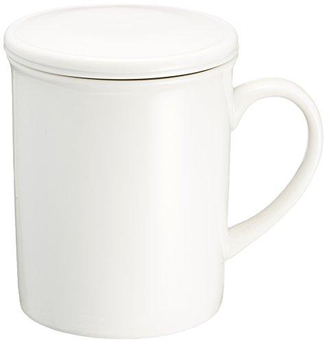 蓋付マグ ハーブティーマグ(茶コシ付) [8 x 9.7cm・270cc] カフェ 喫茶店 洋食器 飲食店 業務用