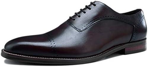 Herren handgefertigte Oxford Leder Schuh Büro Mode Mode Mode Schule Komfort Retro Spitzen schnitzen Business Kleid Schuhe  bis zu 42% Rabatt