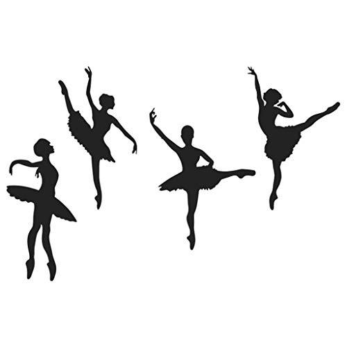 Moent Stickers muraux Creative Ballet Girl Combinaison Stickers muraux Chambre d'enfant Décoration de la Maison DIY