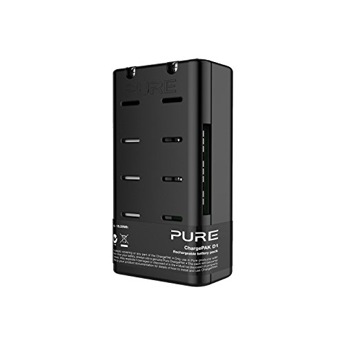 Pure ChargePAK D1 Akkusystem (wiederaufladbarer Akku, Lithium-Ionen-Batterie 3, 7V, 8800 mAh, 20 Stundenakkulaufzeit), Schwarz