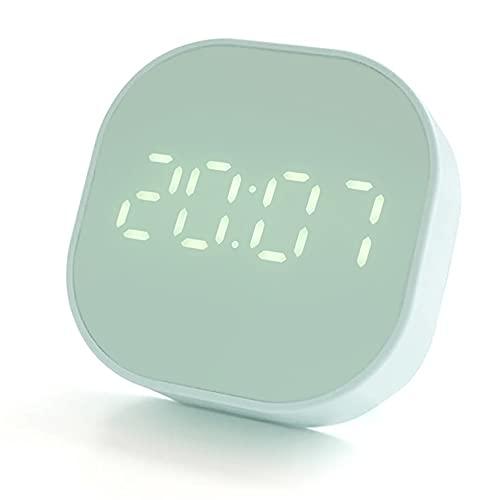 VUENICEE Reloj Cocina Temporizador,Temporizador Magnético,Reloj Despertador Digital con Función de Countdown Timer,2 Grupos de Alarma, USB/Pilas Alimentado, Casa Oficina Aprender (Green)
