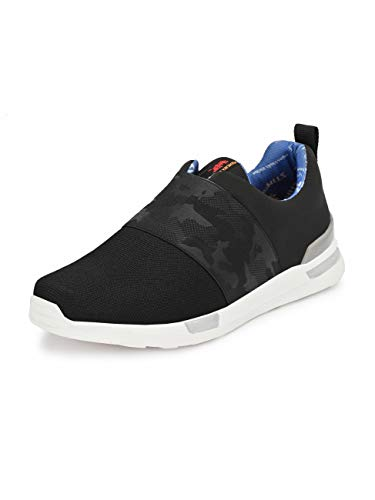 HITZ Black Walking Shoes for Men