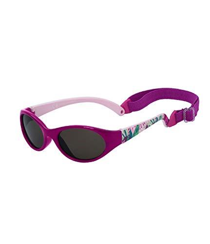 Kiddus Sonnenbrille Kids Comfort Junge und Mädchen. Alter 2 bis 6 Jahre. Total Flexible Modell für Extra Komfort. Mit Band und sehr Resistent. 100% UV-Schutz. Nützliches Geschenk (34 Lilane Blumen)