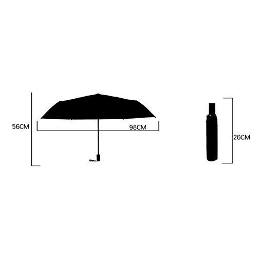 Dylandy Parapluie Pliable Pliable avec Dessous Noir, Protection UV légère et Robuste pour Femme et Fille, Green Moose, 56 cm