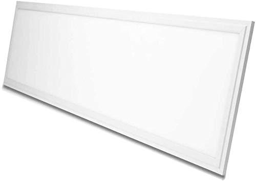 VBLED© LED Panel Deckenleuchte Dimmbar 120x30cm Ultraslim Modern 36W Neutralweiß 4000K Deckenlampe mit PMMA Lichtleiter und weißer Rahmen Inklusive Seilabhängung Set