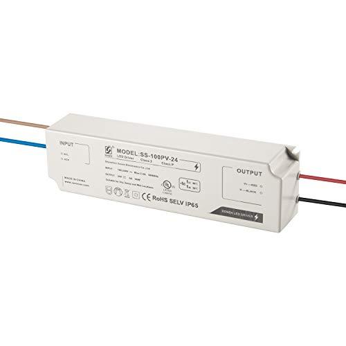 LIGHTEU®, Alimentation LED avec transformateur Sosen - 100 W, 24 V DC, 4 A IP65 - Tension constante pour lampes à bande à LED et lampes à LED G4, MR11, MR16