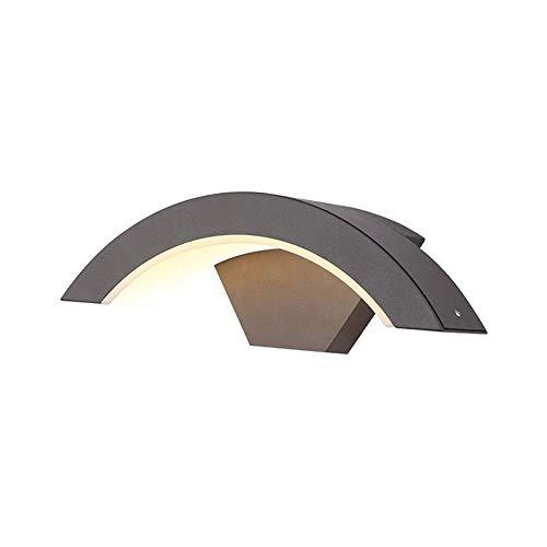 Boutique indoor lighting - Luz LED de 12W moderna simplicidad metal de aluminio de pared exterior 1-Light Negro IP65 impermeable de la lámpara del aplique de pared exterior de porche delantero, patio,
