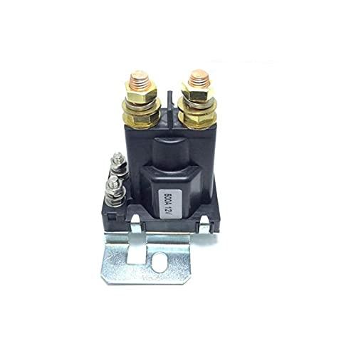 Sweatpants 1PC 12V / 24VDC 500A AMP 4 Pin Relay On/Off Coche Interruptor de Encendido automático de automóviles Plástico Baterías Doble Aislador Ajuste para Forklift Engineering (Color : DC 12V)