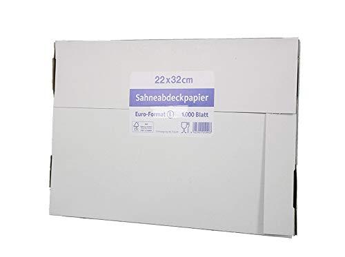 Wachsseiden 1/8 1000St - 10000St Sahneabdeckpapier Zuschnitte Frischhaltepapier, Wunsch:1000 Stück