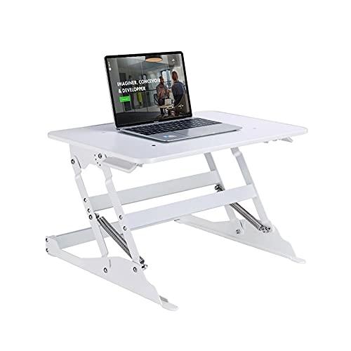 Escritorio de computadora Escritorio plegable de la computadora que se coloca el pequeño convertidor del escritorio de la altura ajustable de la altura del escritorio de la escritorio para el monitor