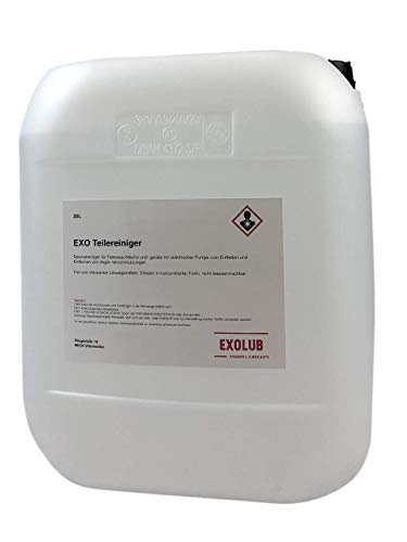 EXOLUB 30 Liter Teilereiniger für Waschtische | Reiniger für Teilewaschgeräte | geeignet für elektrische Pumpen | Entfetter | Maschinenreiniger