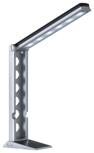 Trio-Leuchten 524110187 LED-Tischleuchte inklusiv 1x 6 W LED, mit Sensordimmer, Ausführung Kunststoff titanfarbig