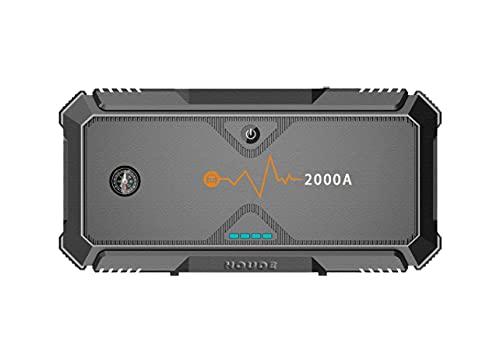 Xue Mei Zi Batería De Coche Jump Starter 20000mAh 12V Paquete De Energía Portátil, Booster De Caja De Salto Automático con Carga Rápida USB Y Luz LED