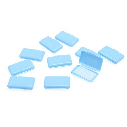 ROSENICE 10pcs cera ortodóntica dental para ortodoncia refuerza Wearer Mint Flavour (azul cielo)