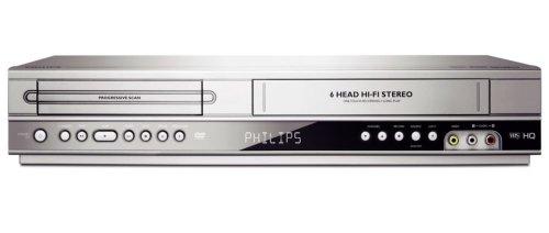 Philips DVP3350V/19 Combiné Lecteur DVD / Magnétoscope VHS Copie directe 2 péritels Silver