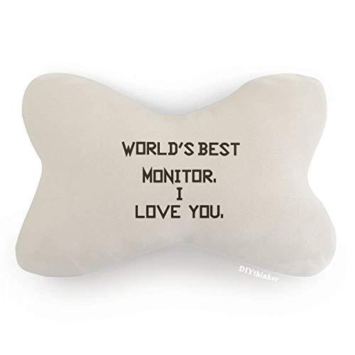 DIYthinker World Best Monitor I Love You Car Trim Neck Decoration Pillow Headrest Cushion Pad