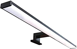 Vega Lampe de miroir LED pour salle de bain – 40 cm, 8 W, 640 lm, 220 V, 4000 K, noir satiné aluminium, IP44 Classe II, no...