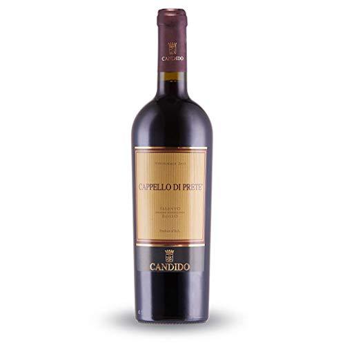 CANDIDO 1 Bottiglia - Cappello di PRETE Vino NEGROAMARO Rosso I.G.T. SALENTO da UVE NEGROAMARO