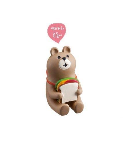 Decole 2016 Rabbit & Bear Figure - Sandwich Bear