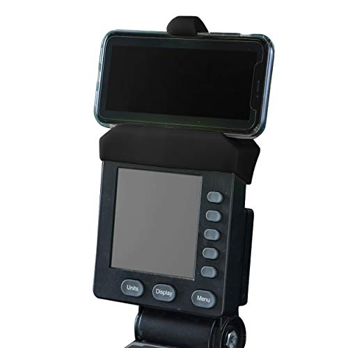 Phone Holder Made for PM5 Monitors of Rowing Machine, SkiErg and BikeErg - Silicone Fitness Products by Vapor Fitness