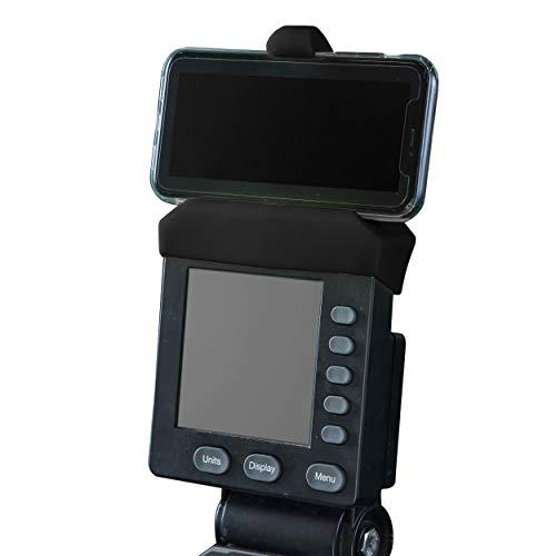 Soporte de teléfono hecho para máquina de remo compatible con PM5 monitores, Rower, SkiErg y BikeErg PM5 - Productos de fitness de silicona, Amarillo