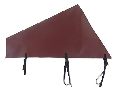 Bags And Covers Direct Limited Large Caravan Tow Hitch Cover Heavy Duty UV Stabilised With Straps (Burgundy)