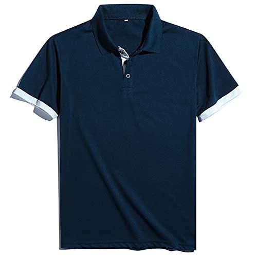 Polos Manga Corta Hombre Bordado de Camisas Slim Fit Camiseta Deporte Golf Polo Shirt Verano Primavera T-Shirt Oficina