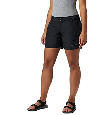 "Columbia Women's Coral Point II Short, UV Sun Protection, Moisture Wicking Fabric, Black, Small x 6"" Inseam"