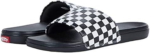 Vans Mens M LA Costa Slide ON (Checker) White/Black Size
