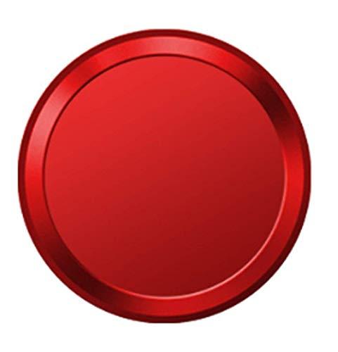 指紋認証機能対応 ホームボタンシール (レッドフレーム/レッド ) 1枚
