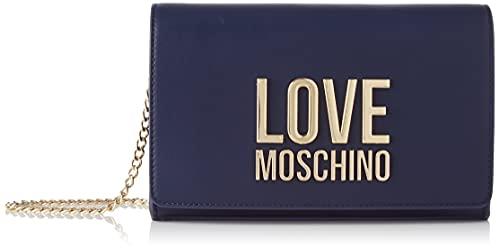 Love Moschino Donna, Borsa a Spalla, Pre Collezione Autunno Inverno 2021, Blu, U