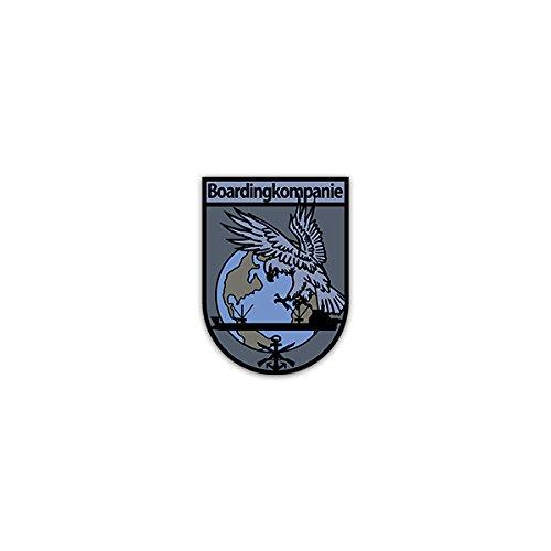 Copytec Aufkleber/Sticker -Boardingkompanie - Variante 2 Bundeswehr Deutschland Marine Marinesicherrungsdienst Spezialisierte Kräfte Seebataillon Wappen Abzeichen Emblem 5x7cm #A2590