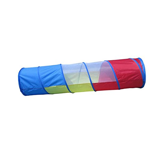 Elenxs Kids Pop Up Tunnel Tent Caterpillar Crawl Through Tubes for Baby Play Sensory Training